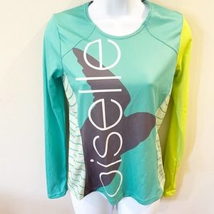 Oiselle Volee Long Sleeve Singlet Green Size Small
